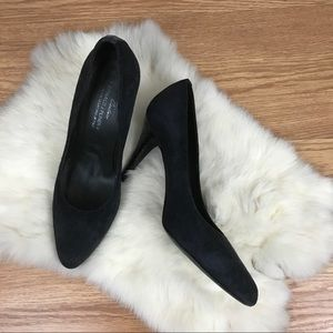Donald J. Pliner | Classic Black Suede Pump Heels